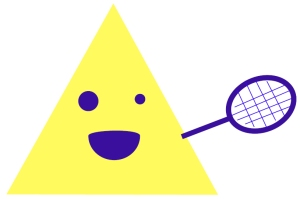 Solo triangle likes tennis.